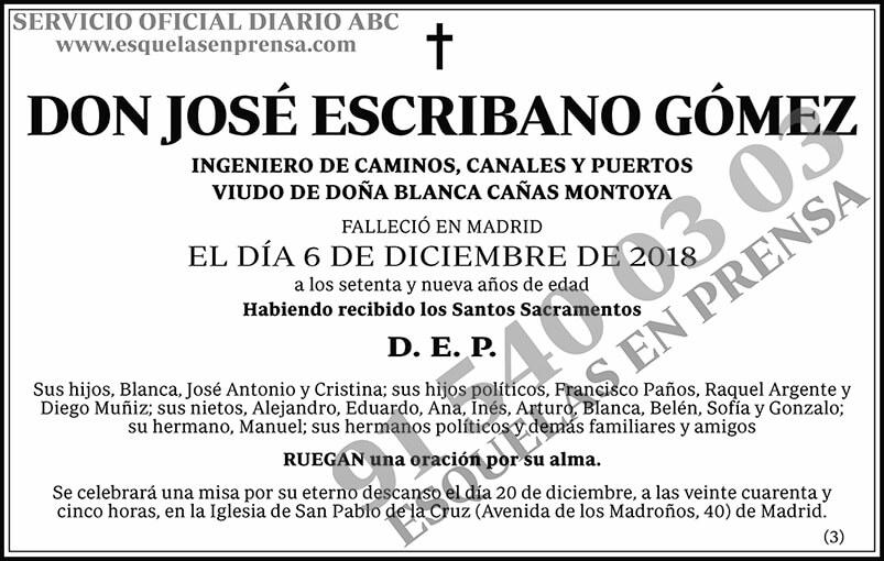 José Escribano Gómez